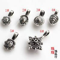 amulet clip - DIY silver beads beads with sterling silver silver clip counter Amulet Bracelet accessories beads clip panchjanya