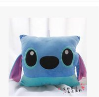 Wholesale Warm Hands Pillow Lilo and Stitch Cushion Plush Toys Hold Pillow Stuffed Toy colurs for choose