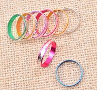 aluminum gifts for women - Hot sale Rings For Mens Women Finger Rings Colorful Aluminum Rings Lover Rings Jewelry Mixed Size Bulks Multicolor Band Rings Jewelry