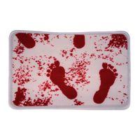 bathroom mat blood - Washable Shower Horror Blood Bath Bathroom Bloody Footprint Mat No Slip Rug badkamer mat tapis bain carpet bath order lt no tr