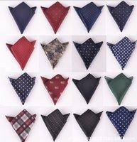Wholesale Fashion men s pocket handkerchief hanky tower snot rag Pocket square Pocket towel ties Ascot Cravet colors