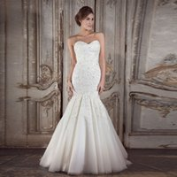 beauty robe - 2017 New Mermaid Wedding dresses Robe de Mariage Sweetheart Lace up Beauty Romantic Luxury Vestido de Noiva Bridal gowns