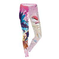 balls pants - New Sexy Girl Women monster Poke Ball Charizard Blastoise D Prints Running Jogging Elastic GYM Fitness Sport Leggings Yoga Pants