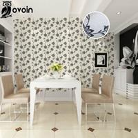 Cheap Shimmer Plain modern black white flower wallpaper for walls bedroom romantic Floral wall paper For Restaurant
