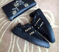 basic brand shoes - Brand Man and Women Basic Casual Shoes Genuine Leather Men s Rivet Round Shoes Toe Lace up Flat Platform Shoe