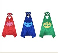 Wholesale Peter Pan double layer cape children Cosplay capes Halloween Party Costumes for Kids clothes mask cape