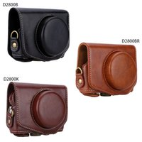 Wholesale Professional PU Leather Camera Bag Case Protective Pouch with Shoulder Strap Special for Canon Powershot G7X camera G7X