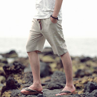 ancient chinese clothing men - Cotton and linen shorts Chinese style restoring ancient ways graphics linen slacks men s clothing