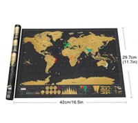 Wholesale ift bags with handles Best gift Deluxe Mini Scratch World Map Luxury Gift Edition Of Trumpet cm Travel Journal Vacation Ne