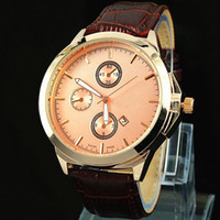 big male models - 2016 New Model Fashion Man Watch Big dial Leather Luxury male Clock Special Design Elegant Ladies Watches Top Brand Free Box