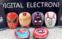 america banks - High Quality Cartoon external Battery emergency Iron Man mAh USB Power Bank Charger Power Bank Marvel Heroes Captain America Super