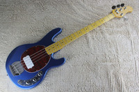 Mejor guitarra china Ernie Ball Música Hombre StingRay Bajo eléctrico Bajo Metal Azul OEM Musical