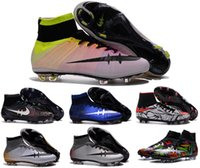 Wholesale High top soccer shoes superfly men football shoes mercurial superflys fg original boy football boots Neymar outdoors soccer cleats