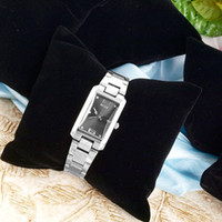 Wholesale Black Velvet Jewelry Bracelet Watch Display Pillows Showcase Table Counter Display Tray Pillow Jewelry Display