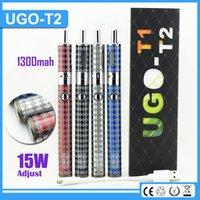 vapor - 2016 Newest ecigarette UGO T2 mAh electronic cigarette Starter Kits UGO T2 Airflow Control Tank Variable Wattage e vapor starter kit
