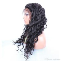 Wholesale Cheap Lace Fronts Free Shipping - Front Full Lace Wigs Loose Wave Mongolian Hair Bleached Knots Natural Color Cheap Price Free Shipping