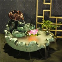 bamboo pond fountain - Opening gifts feng shui ball turned the corner fish tank water fountain pond rockery bonsai feng shui ornaments Lucky Wheel