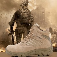 army assault boots - High top Desert Assault Tactical Military Boots Men s combat boots Outdoor Hunting Army Motorcycle Boots Travel Hiking Shoes