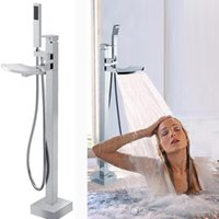 bathtub factory - guangdong factory supply high quality Floor standing bathtub brass shower floor stand shower faucet