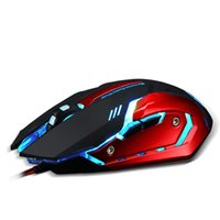 big mouse computer - Professional gaming peripherals cable mechanical mouse macro programming game mouse lol computer office big light