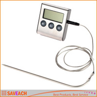 Wholesale Digital Thermometer for Oven Digital Lcd Display Probe Food Thermometer Timer Cooking Kitchen Bbq Meat