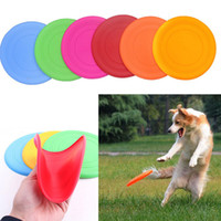 achat en gros de chiot peluches-Silicone Dog Frisbee Flying Disc Résistant aux dents Soft Puppy Outdoor Pet Dog Jouer Foldable Training Fun Fetch Toy