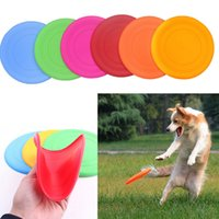 Wholesale Silicone Dog Frisbee Flying Disc Tooth Resistant Soft Puppy Outdoor Pet Dog Play Foldable Training Fun Fetch Toy