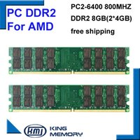 amd desktops - hottest RAM DDR2 Mhz GB KIT of x4gb ddr2 KVR800D2N6 G PC2 only for AMD motherboard