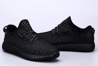 b dots - 2016 Top Quality Kanye Milan West Boost Classic Black Gray Men s Women Fashion Trainers Shoes Sports Shoes