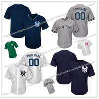 Wholesale Cheap Custom NEW Men s Women Kids New York Yankees High Quality Majestic Custom Cool Base Baseball Jerseys