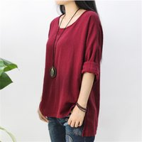 bamboo ma - Women s Clothing Autumn winter the original design simple retro bamboo Ma style ladies T shirt