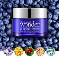 beauty sleep mask - BIOAQUA Wonder natural Blueberry Sleeping Mask for Acne Winter Hydrating Oil Control Bright Skin Keep Young Beauty Energy HOT
