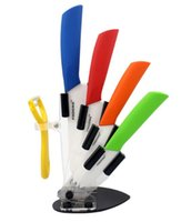 acrylic knife holder - 3 quot quot quot quot Ceramic Knife Set Peeler Acrylic Holder Blue Orange Yellow Black Red Green Handle