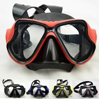 Wholesale Professional Tempered Glass Silicone Scuba Diving Mask Scuba Gear Equipment Goggles For Men Or Women Adult Spearfishing Swimming