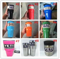 Wholesale YETI oz colorful Rambler Tumbler Cup Vehicle Beer Mug Double Wall Bilayer Vacuum Insulated ml Stainless Steel large capacity