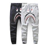 Wholesale New Summer Men s Shark pants Cotton Camo Causal Shorts Men Casual Camouflage Skateboard long Pants Loose Streetwear
