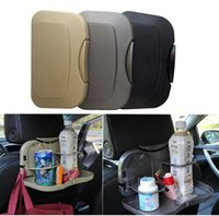 Wholesale Portable Car Seat Tray mount meal Desk Stand Drink Cup Holder Multi Tray Food Car Stand Rear Seat Beverage Rack