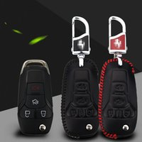 Wholesale Premium Leather Remote Key Holder Fob Case Cover For Ford Explorer