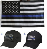 Wholesale BlueLine Flags by5 Thin Blue Line Flag Honoring Our Men And Women Of Law Enforcement Black White And Blue American Flag With Brass Gro