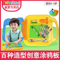 Wholesale AUBAY genuine creative crayon drawing board Baby Board of children to obey toys