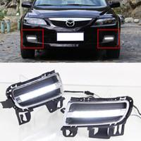 auto roll bar - Car DRL Kit for MAZDA LED Daytime Running Light bar auto Fog lamps bulb External daylight for car led drl light V