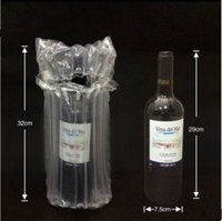 Wholesale 39 x23 cm Stand up air seal plastic packaging bags Quake proof packaging red wines etc glass fragile pouches