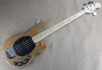 ash wood finish - Ash Wood Body Music man Strings Bass Erime Ball StingRay Electric Guitar Natural Finish HH Active Pickup Chrome Hardware In StocK