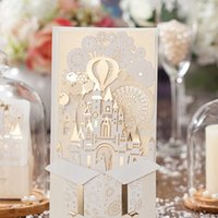 Wholesale New Personalized Design White The Bride and Groom Dress Style Invitation Card Wedding Invitations Envelopes Sealed Card Top Quality CW5093