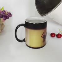 photo mug - DIY Photo Magic Color Changing Coffee Mug printing with Walking Dead Bloody hands Black tea cup mugs OZ