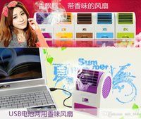 Wholesale Office desktop mini bladeless cooling Students USB Battery Mini Bladeless Fan Air conditioning scent office desktop small silent cooling fan
