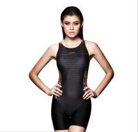 athletic swim suit - Digital Printed Women Bodysuit Sports Slimming One Piece Swimsuit Professional Long Athletic Swimwear Bathing Suit Swim Wear