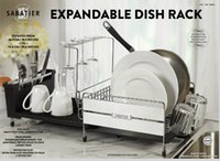 Wholesale Expandanle Stianless steel kitchen dish rack storage holder organizer by DHL