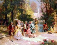 Wholesale 24X36 INCH ART SILK POSTER cuadros decor gentleman oil painting canvas prints classical court figure oil painting on canvas