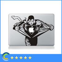 Wholesale Laptop Stickers Superman Personality Vinyl Decals for New Macbook retina macbook Air Pro Retina Inch stickers laptop skin